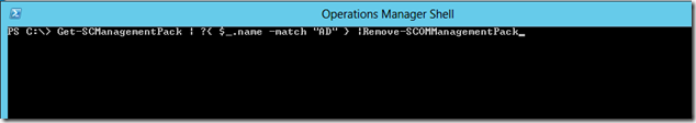 How to Remove SCOM 2012 Management Packs Through PowerShell (2/2)