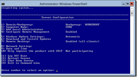 Configuring HYPER-V server 2012 free edition for Remote Management (1/5)