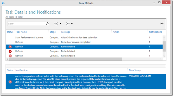 Configuring HYPER-V server 2012 free edition for Remote Management (5/5)