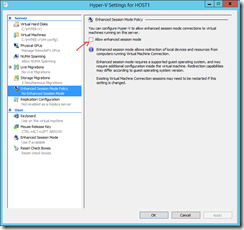 Enhanced Session Mode in HYPER-V 2012 (1/2)